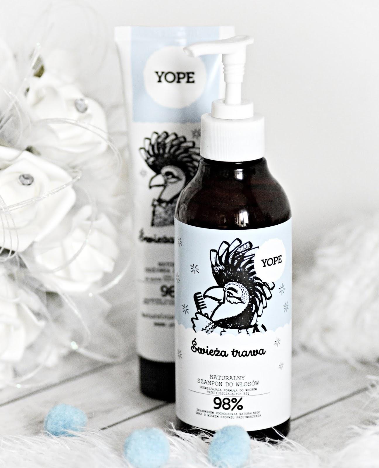 nowości do włosów yope świeża trawa