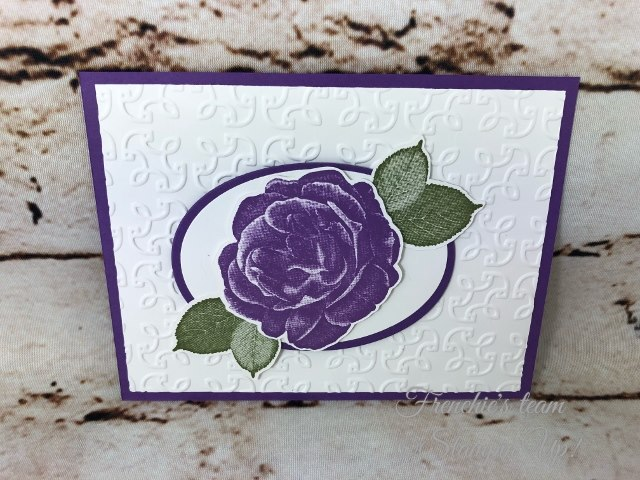 Card, Healing Hugs, Garden Trellis Embossing Folder, Gorgeous Grape,