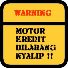 Stiker Unik dan Lucu pada Motor Tema Dilarang Nyalip
