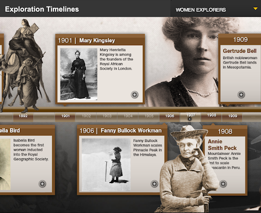 4 Great National Geographic Timelines to Share with Your Students         ~          Educational Technology and Mobile Learning