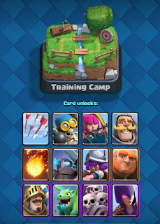 Clash royale training camp deck card