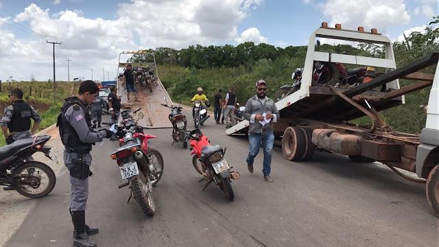 Operação retira de circulação motocicletas irregulares no MA