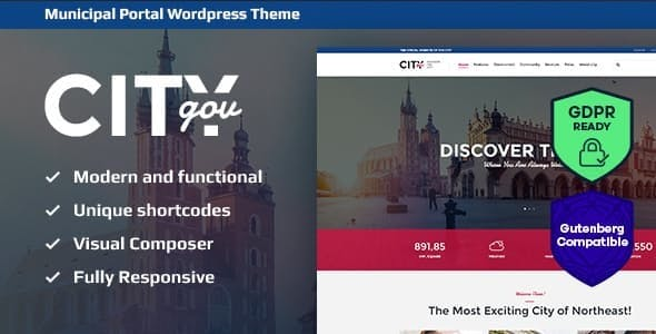 City Government & Municipal Portal v1.9 – WordPress Theme