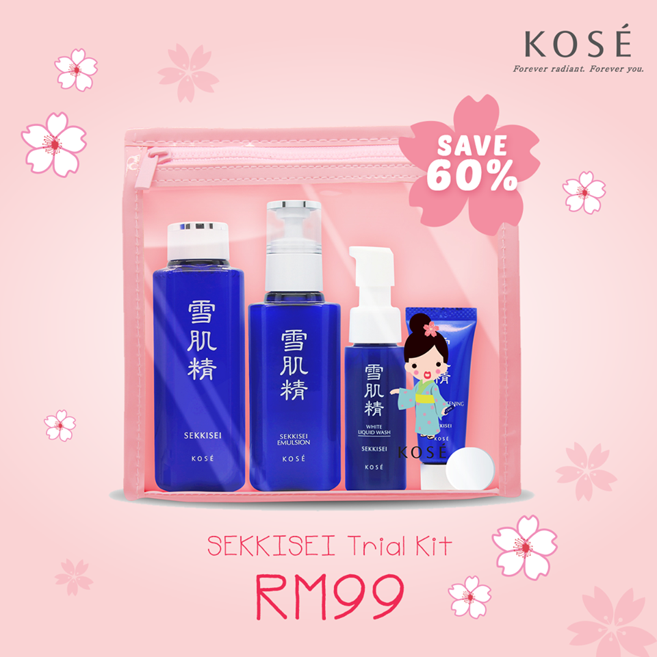 KOSE Sekkisei star products trial kit set review - Angie