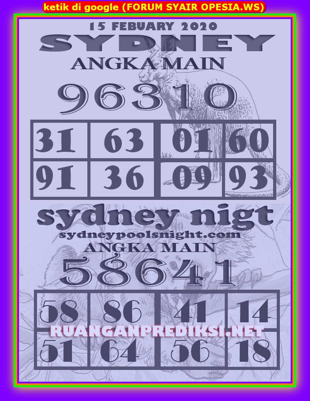 Kode syair Sydney Sabtu 15 Februari 2020 133