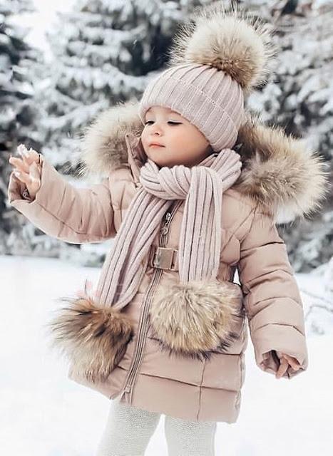 Girls' Sweet Solid Hooded Coats