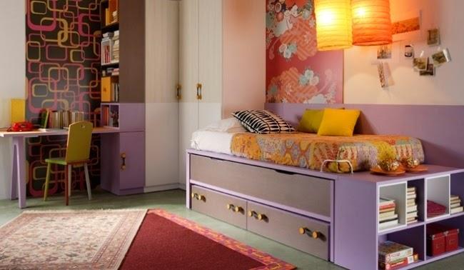 dormitorio de adolescente moderna
