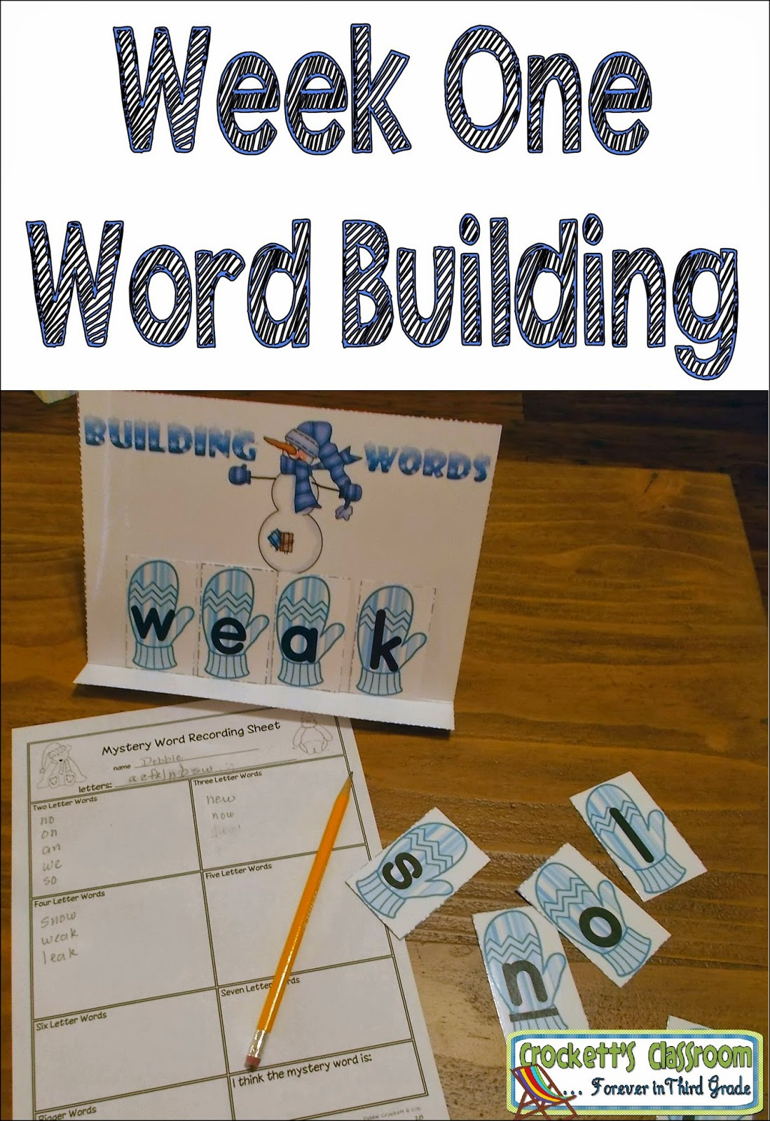 Word building,this is just one of the four activities you can do with very little prep to get ready for your literacy centers.