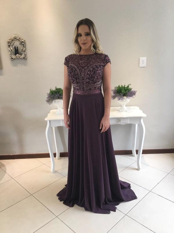 vestido de festa uva