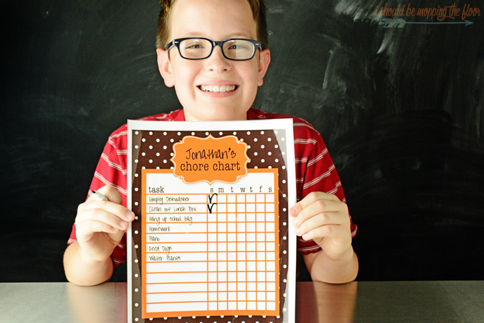 Back to School Cleaning Routines and Free Printable Chore Chart
