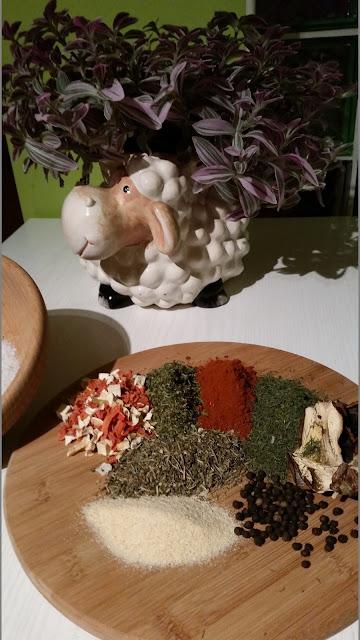 przepis na ziołową wegetę