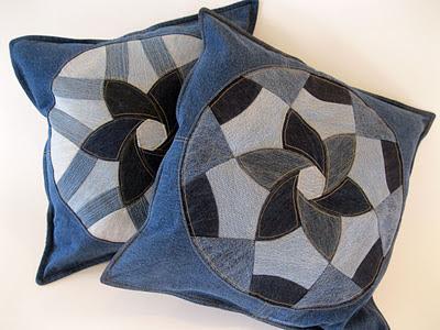 Ashbee Design Denim Blue Jeans Pillows