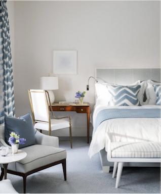 David Kleinberg Design in Palm Beach bedroom
