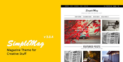 Download SimpleMag v3.0.4 Magazine Wordpress Theme For Creative Stuff