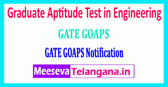GATE 2019 Graduate Aptitude Test in Engineering Notification Login Registration Exam Dates Syllabus Pattern