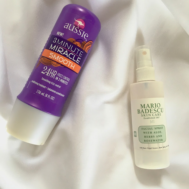Aussie 3 Minute Miracle Smooth Conditioner and Mario Badescu Facial Spray