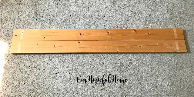 wood planks diy repurposed farmhouse shelves