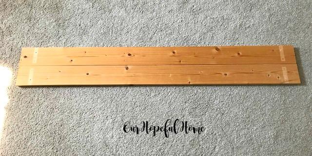 wood planks diy repurposed farmhouse shelves