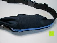 volle Tasche: GHB Doppelfach Sportgürteltasche Bauchtasche Handygürtel ideal für Laufen, Training, Radfahren, Wandern Schwarz
