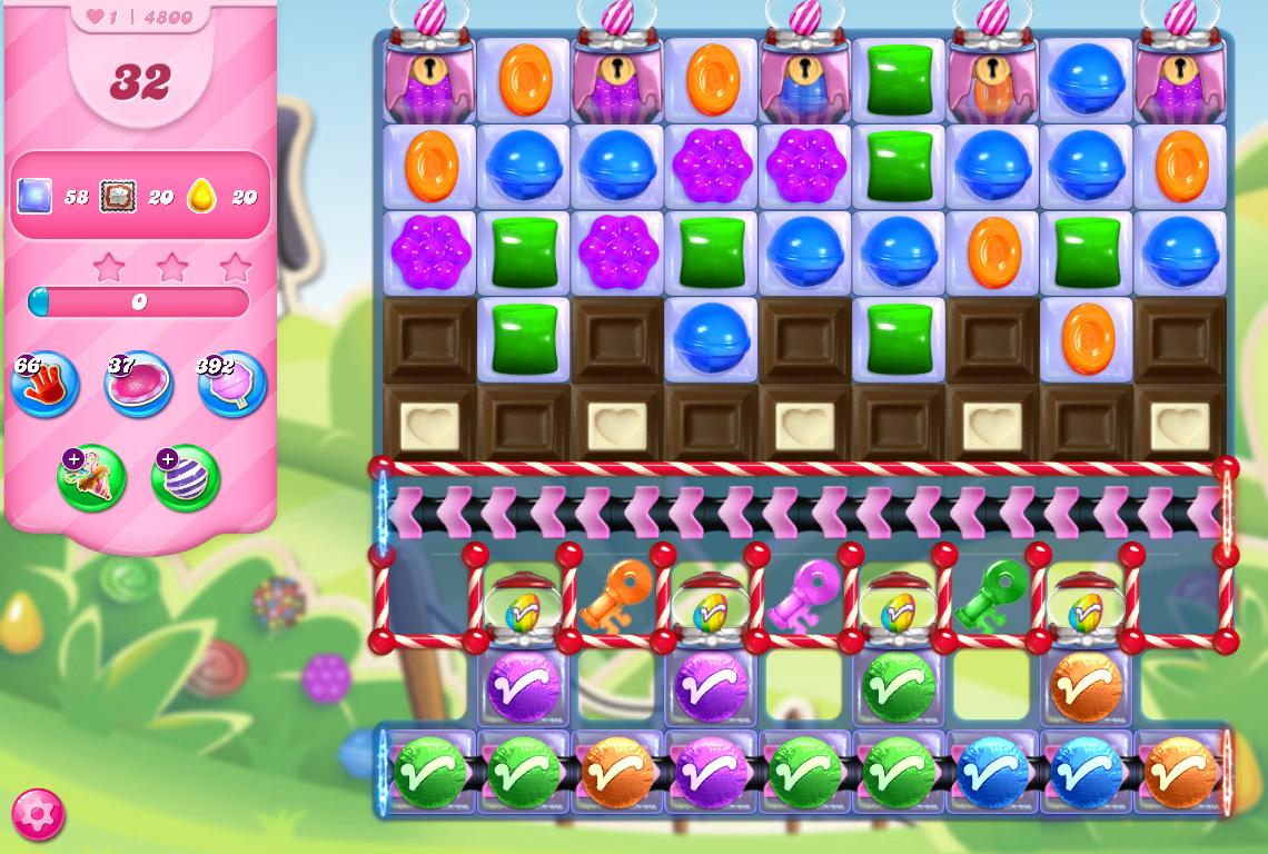Candy Crush Saga level 4800