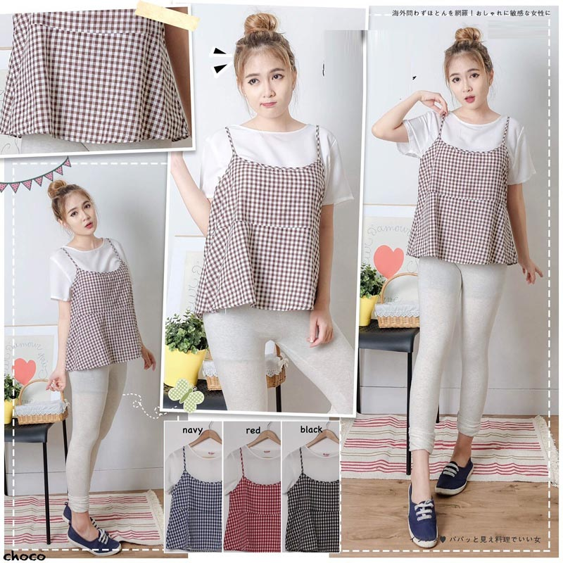 Jual Blouse Two Pieces Square Blouse - 13080