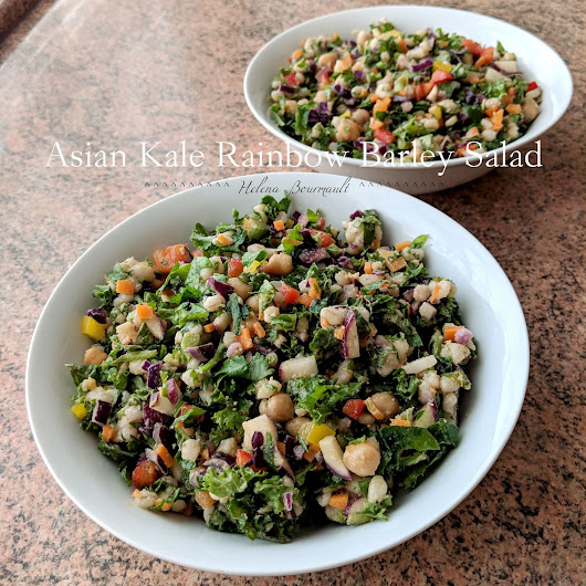 Asian Kale Rainbow Barley Salad