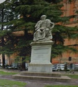 The statue of Torricelli in Faenza