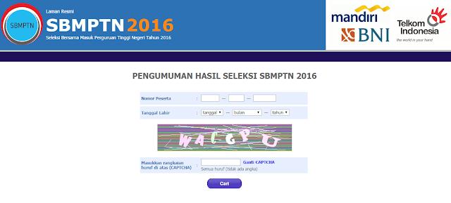 Daftar Situs Lengkap Hasil Seleksi SBMPTN 2016 Kementerian Pendidikan