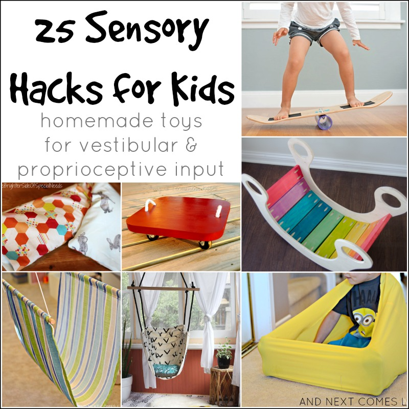 25 sensory hacks for kids with autism and/or sensory processing disorder from And Next Comes L