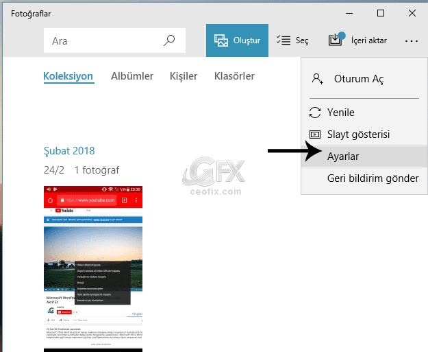 windows 10 Fare Tekerleği İle Resime Zoom Yap-www.ceofix.com