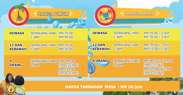 Harga Tiket  A2A First MY Merdeka Water Inflatable Day