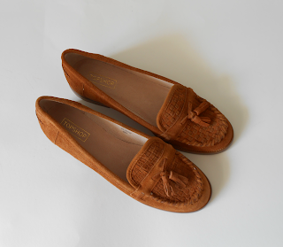 Tan Coloured Loafer Shoes from Topshop