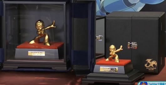 2 solid gold Rockman statues revealed!