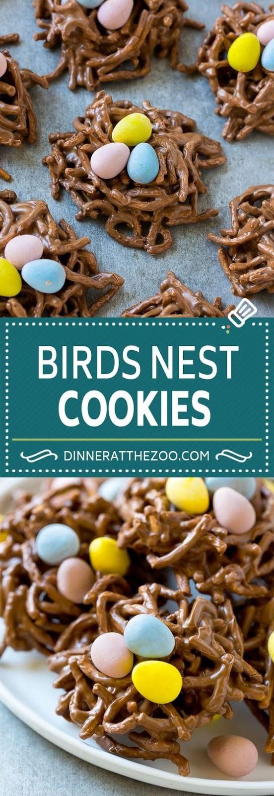 Birds Nest Cookies | Chow Mein Noodle Cookies | Easter Cookies | No Bake Cookies #easter #cookies #chocolate #nobake #dessert #dinneratthezoo