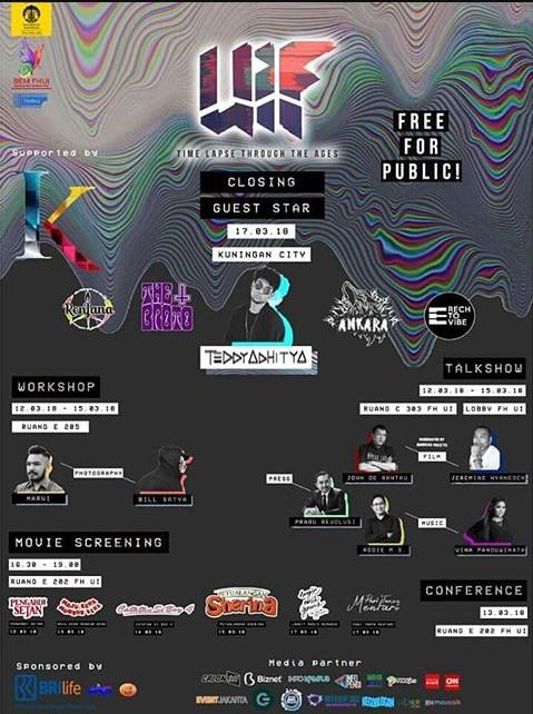 Event UI IDEA Festival 2018 Univ. Indonesia Free