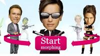 Effetto morphing per combinare le facce di due persone e creare un volto nuovo