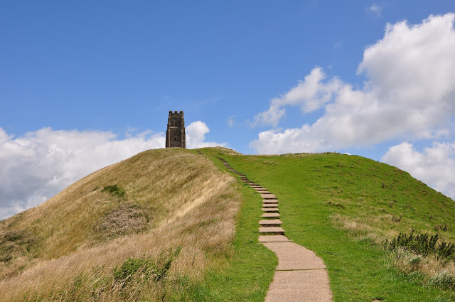 Glastonbury Tor in the sun, UK