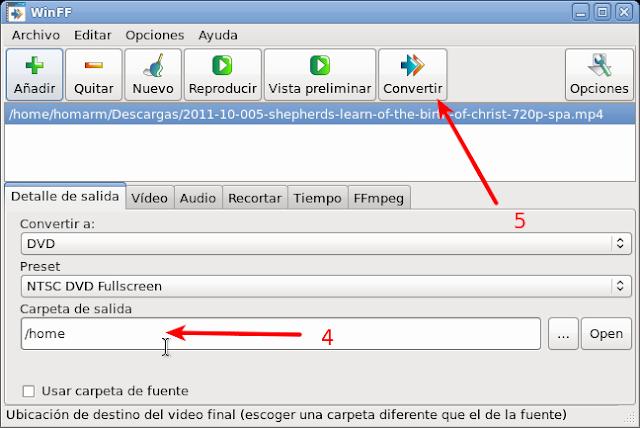 winff convertir ficheros de video