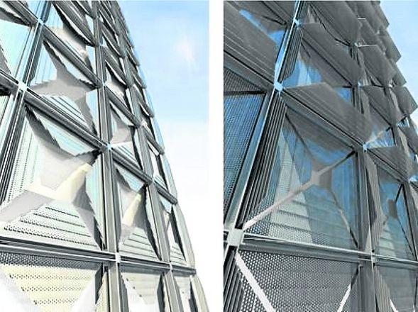 Arquitectura Frentes Que Se Mueven Con El Sol
