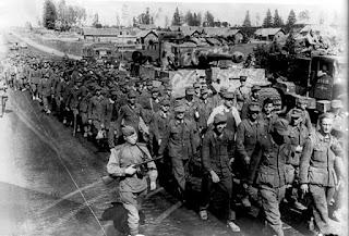 Prisioneros alemanes en Minsk durante la Operación Bagration