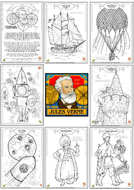 Jules Verne La Astronomia Y La Literatura Verne Para Colorear