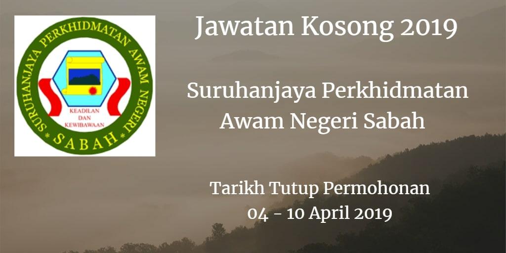 Jawatan Kosong SPANS 04 - 10 April 2019