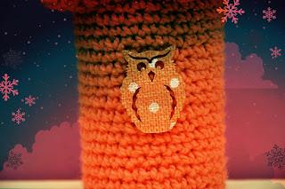 Sweterek z sową na kubek