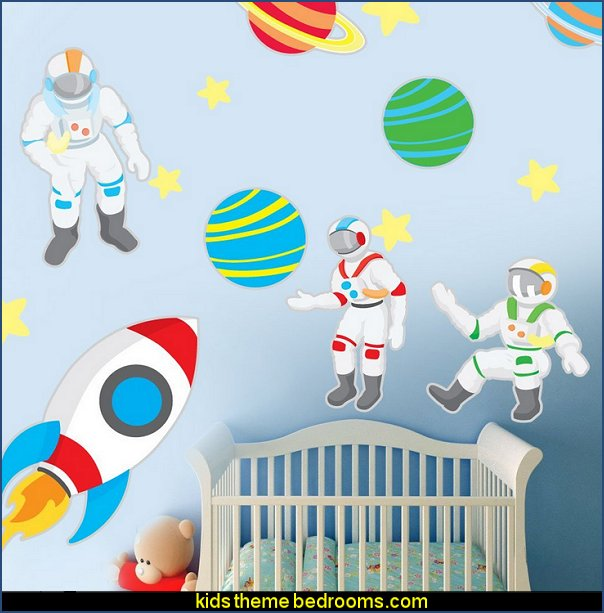 Space Explorer Wall Decal Set - Space Wall Decal by Chromantics