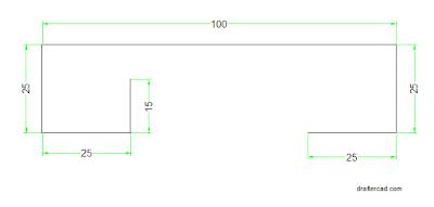 membuat garis bantu kearah atas dan kearah kiri