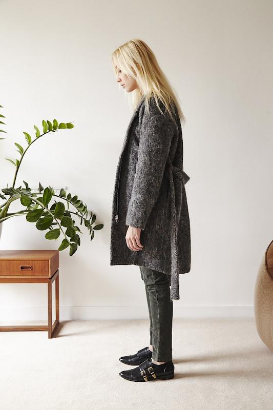 Manteau en laine gris chiné Coatpeople