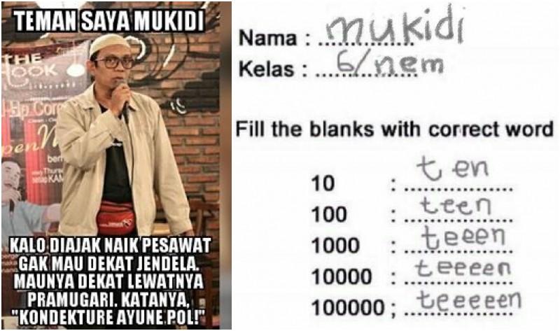 Meme lucu soal nama Mukidi