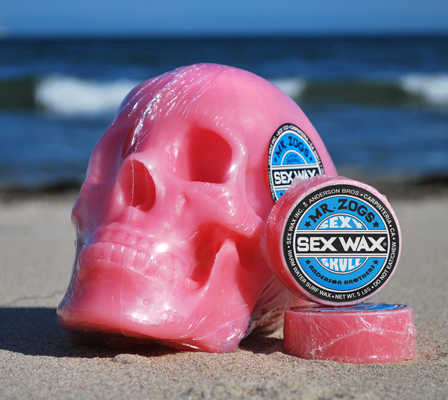 Sex Wax Skull Surfboard Wax
