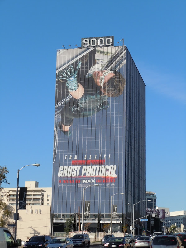 Giant Ghost Protocol billboard Sunset Strip