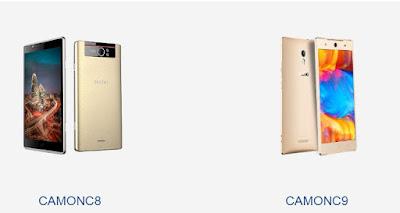 Tecno camon C9 vs Tecno camon C8 - difference and similarities